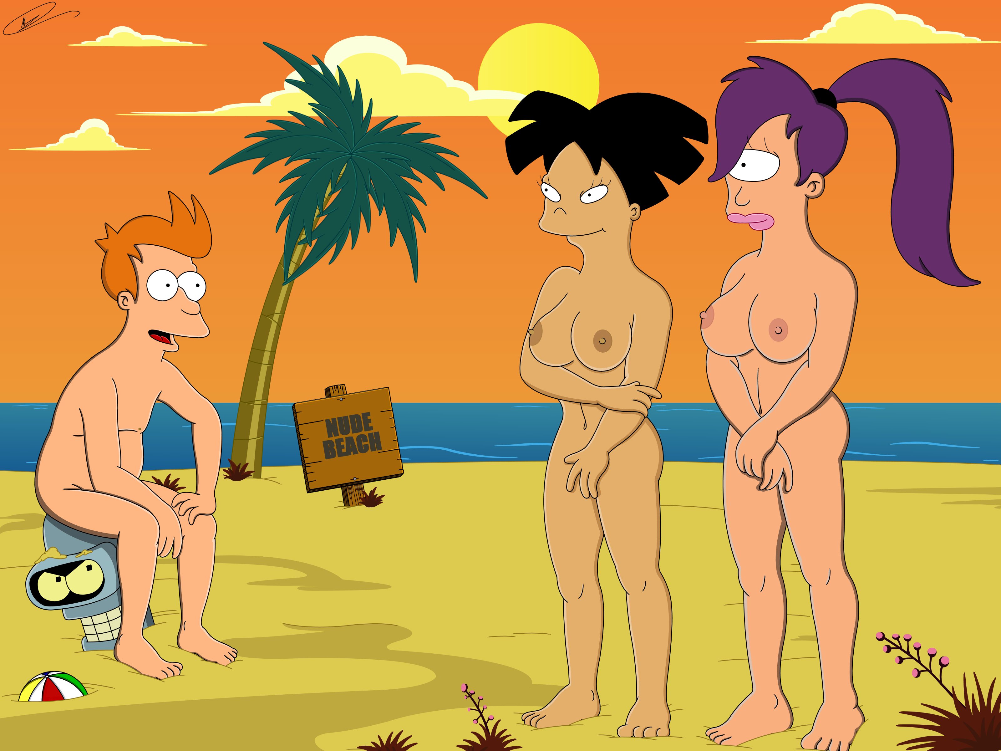Word honour. Futurama leela and amy nude